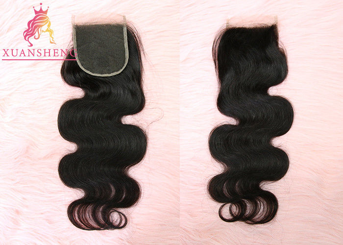 Virgin Cuticle Aligned Hair Body Wave 4x4 Inches Swiss Lace Human Closures