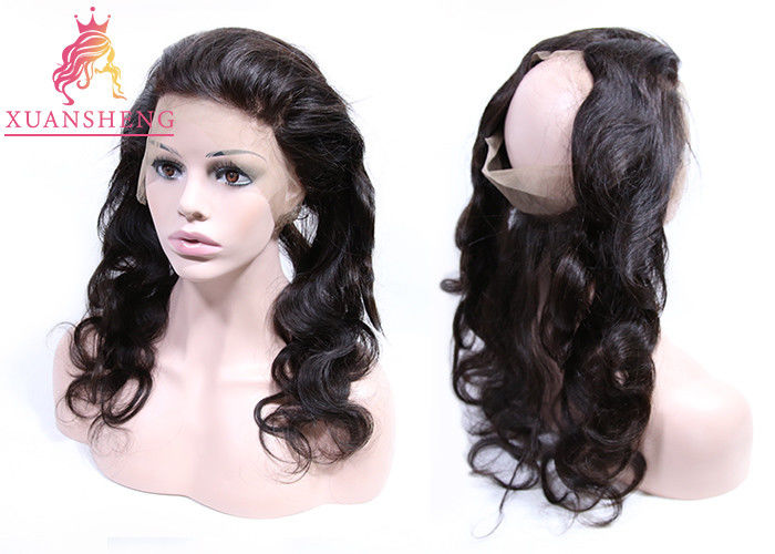 Full Curticle Aligned 360 Lace Frontal  Natural Black With Body Wave Virgin Hair
